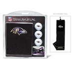 Baltimore Ravens Embroidered Golf Gift Set