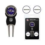 Baltimore Ravens Golf Divot Tool Set of 3 Markers