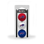 Buffalo Bills 3 Golf Ball Clamshell