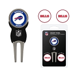 Buffalo Bills Golf Divot Tool Set of 3 Markers