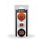 Cincinnati Bengals 3 Golf Ball Clamshell