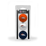 Denver Broncos 3 Golf Ball Clamshell