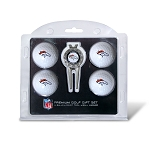Denver Broncos 4 Golf Ball / Divot Tool Gift Set