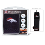 Denver Broncos Embroidered Golf Towel Gift Set
