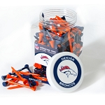 Denver Broncos Jar of 175 Golf Tees