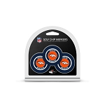 Denver Broncos NFL Set of 3 Golf Poker Chips