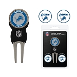 Detroit Lions Golf  Divot Tool Set with 3 golf Ballmarkers