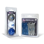 Detroit Lions 3 Golf Ball/50 Golf Tee Set