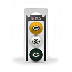 Green Bay Packers 3 Golf Ball Clamshell