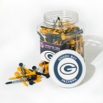 Green Bay Packers Jar of 175 Golf Tees