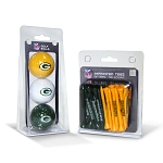 Green Bay Packers 3 Golf Ball/50 Golf Tee Set