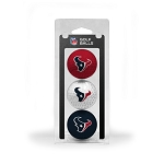 Houston Texans 3 Golf Ball Clamshell