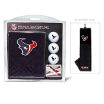 Houston Texans Embroidered Golf Towel Gift Set