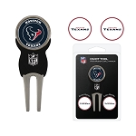 Houston Texans Divot Tool Set with 3 Golf Ball Markers