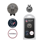 Houston Texans 2 Marker Golf Cap Clip