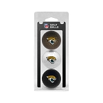 Jacksonville Jaguars 3 golf Ball Clamshell