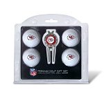Kansas City Chiefs 4 golf Ball / Divot Tool Gift Set