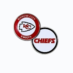 Kansas City Chiefs Double Sided Golf Ball Marker