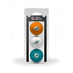 Miami Dolphins 3 golf Ball Clamshell