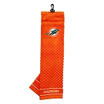 Miami Dolphins Embroidered Golf Towel Gift Set