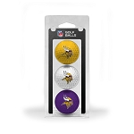 Minnesota Vikings 3 Golf Ball Clamshell