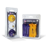 Minnesota Vikings 3 Golf Ball/50 Golf Tee Set