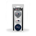 New England Patriots 3 Golf Ball Clamshell