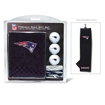 New England Patriots Embroidered Golf Towel Gift Set