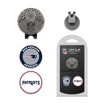 New England Patriots 2 golf ball Marker Cap Clip