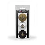 New Orleans Saints 3 golf Ball Clamshell
