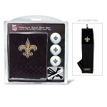 New Orleans Saints Embroidered Golf Towel Gift Set