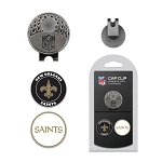 New Orleans Saints 2 Golf Ball Marker Cap Clip