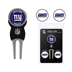 New York Giants Divot Tool Set of 3 Golf Ball Markers