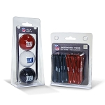 New York Giants 3 Golf Ball/50 Golf Tee Set