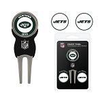 New York Jets Golf Divot Tool Set of 3 Markers