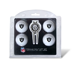 Raiders 4 Ball Golf Gift Set