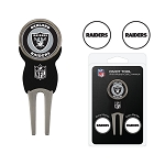 Raiders Golf Divot Tool Set of 3 Golf Ball Markers