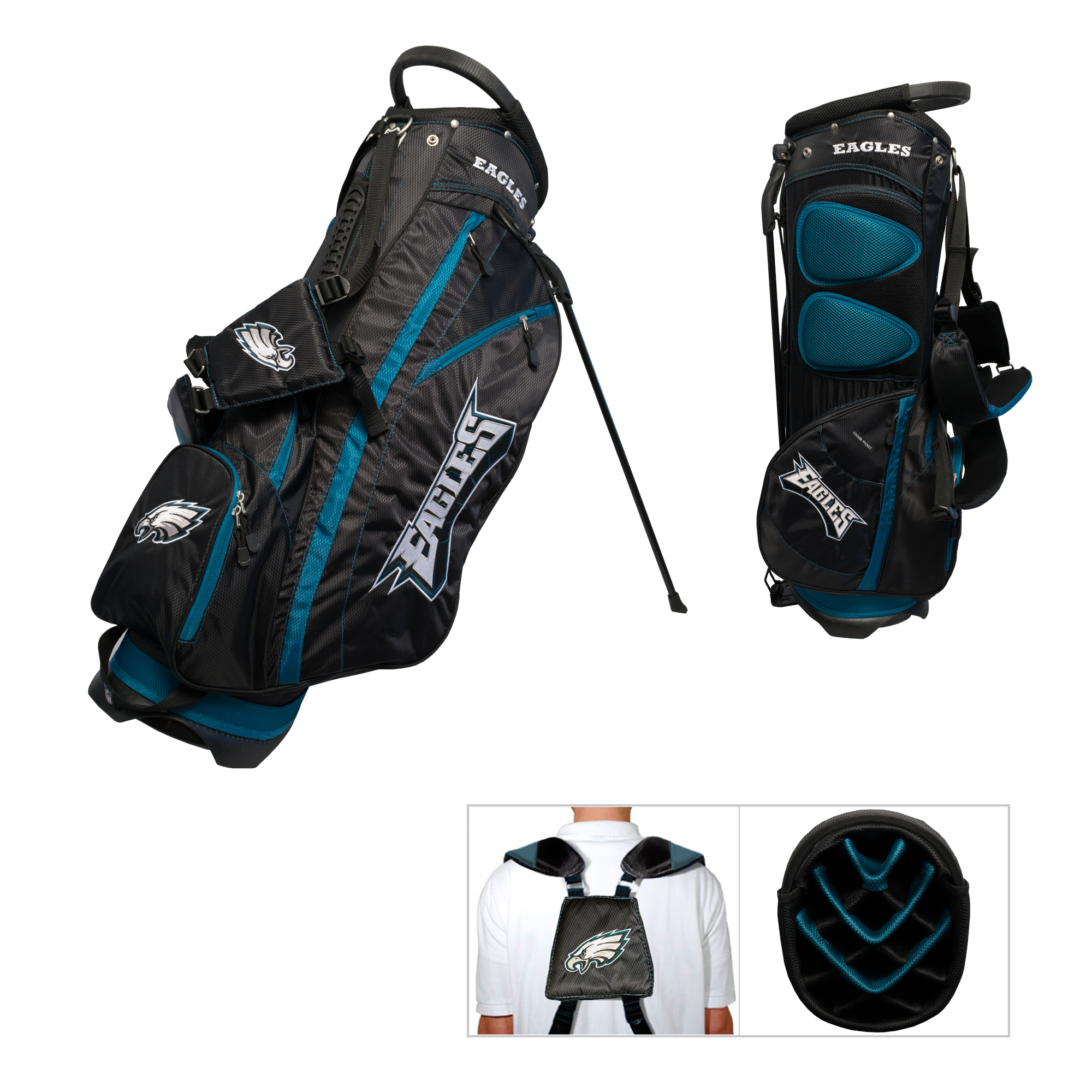 low priced 8d9ab 1cdc3 Philadelphia Eagles Golf Stand Bag