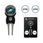 Philadelphia Eagles Golf Divot Tool Set of 3 Ball Markers