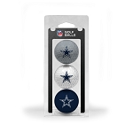 Dallas Cowboys 3 Golf Ball Clamshell