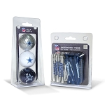 Dallas Cowboys 3 Golf Ball/50 Golf Tee Set