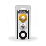 Pittsburgh Steelers 3 Golf Ball Clamshell