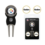 Pittsburgh Steelers Golf Divot Tool Set of 3 Markers
