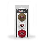 San Francisco 49ers 3 Ball Clamshell