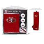 San Francisco 49ers Embroidered Golf Gift Set
