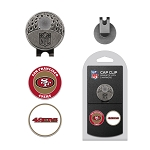 San Francisco 49ers 2 Golf Ball Markers with Cap Clip