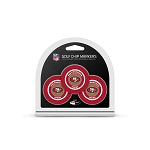 San Francisco 49ers NFL Set of 3 Golf Poker Chips