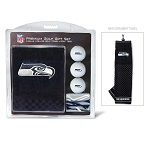 Seattle Seahawks Embroidered Golf Gift Set