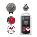 Tampa Bay Buccaneers 2 Golf Ball Markers with Cap Clip