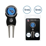 Tennessee Titans Golf Divot Tool Set w/ 3 Golf Ball Markers